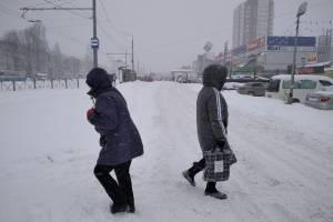 На Брянск 12 февраля обрушилась лютая метель