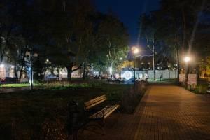 Брянский сквер Морозова погрузился во тьму