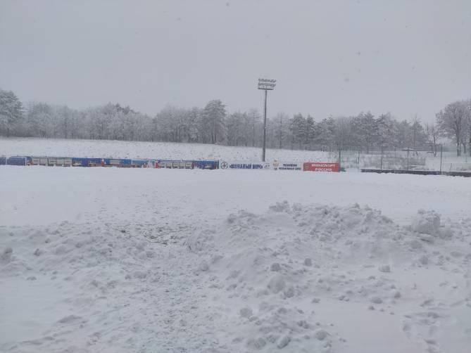 Из-за снегопада на Ставрополье отменили матч брянского «Динамо»