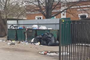 В Трубчевске на улице Севской случился мусорный апокалипсис
