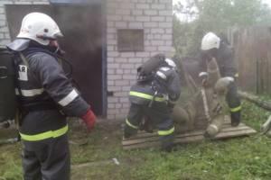Брянские спасатели провели тренировку в газодымокамере