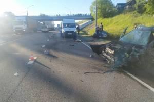 В ДТП с участием машины ДПС ранена автоледи на Renault