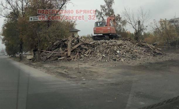 В Фокинском районе Брянска снесли старые двухэтажные дома