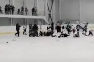 В Климово произошло «ледовое побоище» между юными хоккеистами