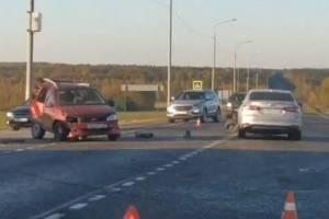 На трассе «Украина» в Брасовском районе разбились две легковушки