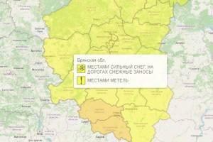 В Брянской области уровень погодной опасности понизили до желтого