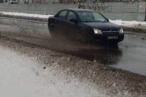Брянск «поплыл» после резкого потепления