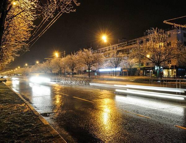 На Брянск вечером обрушился ледяной дождь
