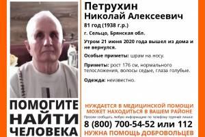 В Сельцо без вести пропал 81-летний Николай Петрухин