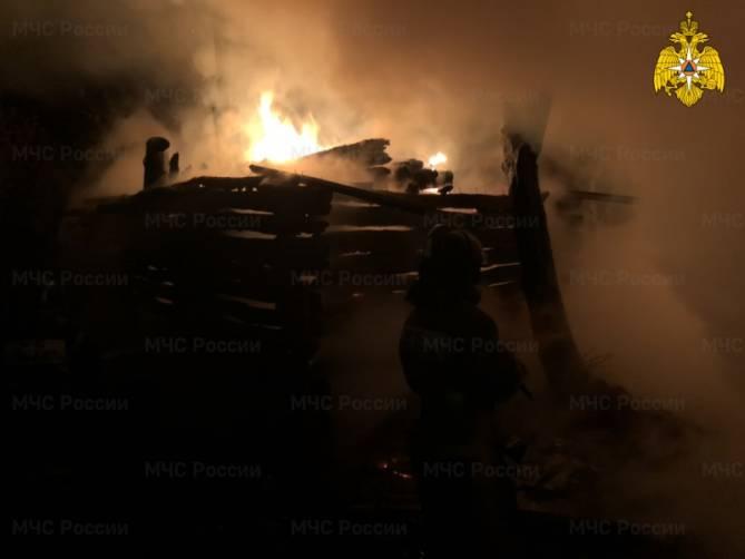 В брянском селе Тулуковщина на улице Заречной сгорела баня