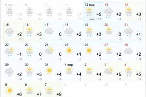 На Брянщине сильное потепление ожидают не раньше апреля