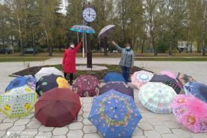 В брянском поселке Локоть прошел праздник разноцветных зонтов