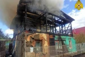 В Брянске спасатель из горящего дома вынес дедушку