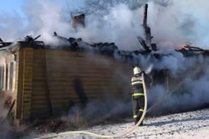 Под Погаром утром сгорел жилой дом