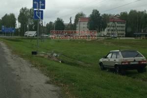 Под Брянском установленную на дороге фотоловушку сбросили в кювет