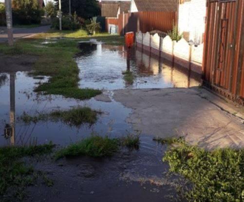 В Брянске затопило улицы в частном секторе Володарского района