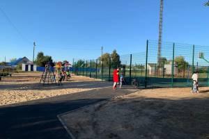 В брянском селе Замишево появились аллея отдыха и спортплощадка