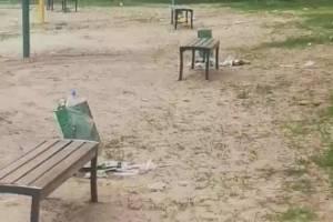 В Брянске сняли кучи мусора на пляже в Володарском районе