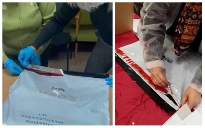 На Брянщине председатели УИК сорвали индикаторную ленту на сейф-пакетах