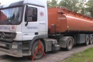 В Брянске задержали бензовоз за нарушение правил перевозки опасного груза