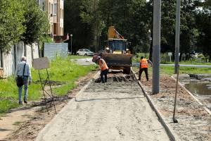 В Брянске на проспекте Московском тротуары готовят к асфальтированию