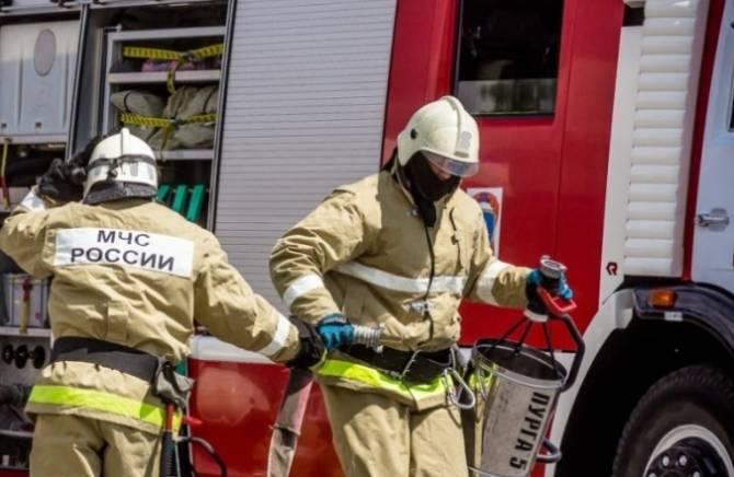 В Дубровском районе сгорело заброшенное строение