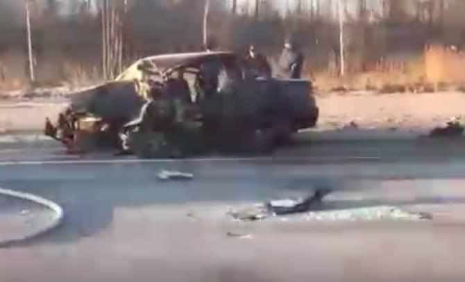 Опубликовано видео с места жуткого ДТП под Карачевом