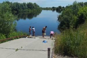 Жители Трубчевска устроили прачечную на берегу Десны