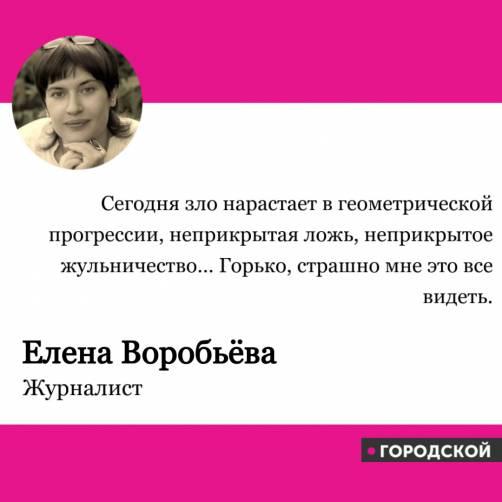 Елена Воробьёва о выборах