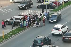 В Брянске легковушка сбила человека на пешеходном переходе