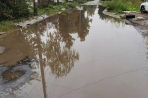 В Брянске ушла под воду улица Кромская