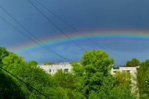 Самоизолированные брянцы восхитились радугой