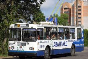 В Брянске с 1 мая изменится маршрут троллейбуса №12