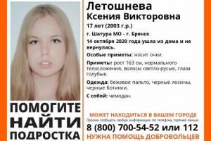 В Брянской области завершились поиски 17-летней Ксении Летошневой