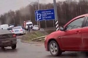 Под Брянском у поворота на Мичуринский произошла крупная авария