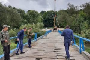 В Сельцо началось строительство моста через Десну