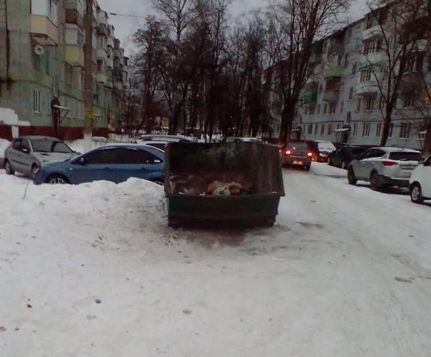 В Брянске очистили от мусора двор по улице Дятьковской