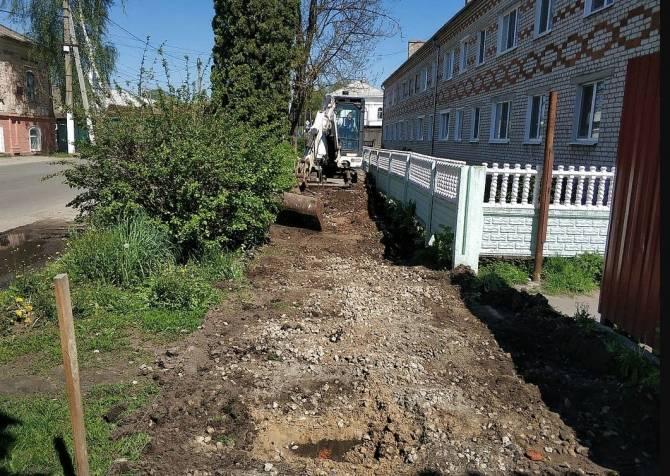 В Стародубе стартовал ремонт  тротуаров