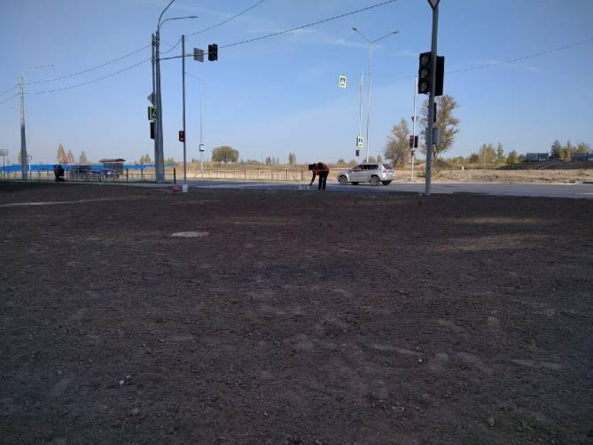 В Брянске на новой дороге светофор развернули в сторону газона