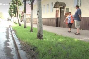 В Брянске возле отдела мэрии вытаптывают новый газон на Фокина