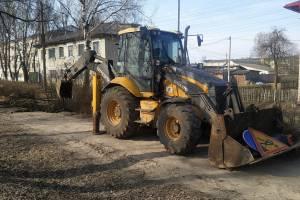 В брянском поселке Локоть приступили к ремонту тротуаров