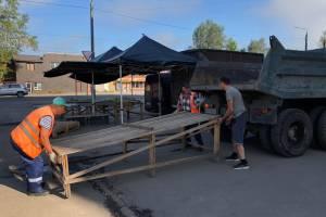 В Брянске власти покончили со стихийным рынком на Литейной