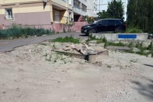 В Брянске уничтожили новенькую дорогу по проезду Федюнинского