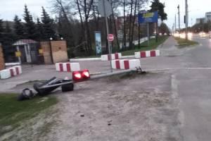 В Брянске на проспекте Московском ветер повалил светофор