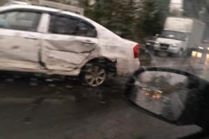 В Брянске опубликовали видео ДТП на улице Калинина