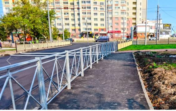 В Брянске строители кольца на улице Советской наплевали на пешеходов