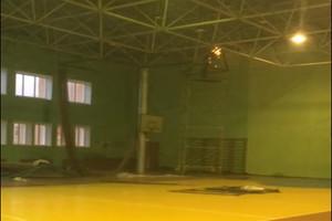 В Климово сняли на видео большой потоп в спортивной школе