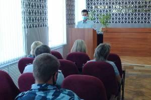 В брянской колонии-поселении с осужденными провел лекцию автоинспектор