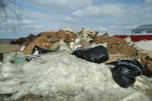 В Брянске выросла свалка строительных материалов