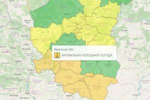 В Брянской области из-за морозов продлили оранжевый уровень опасности